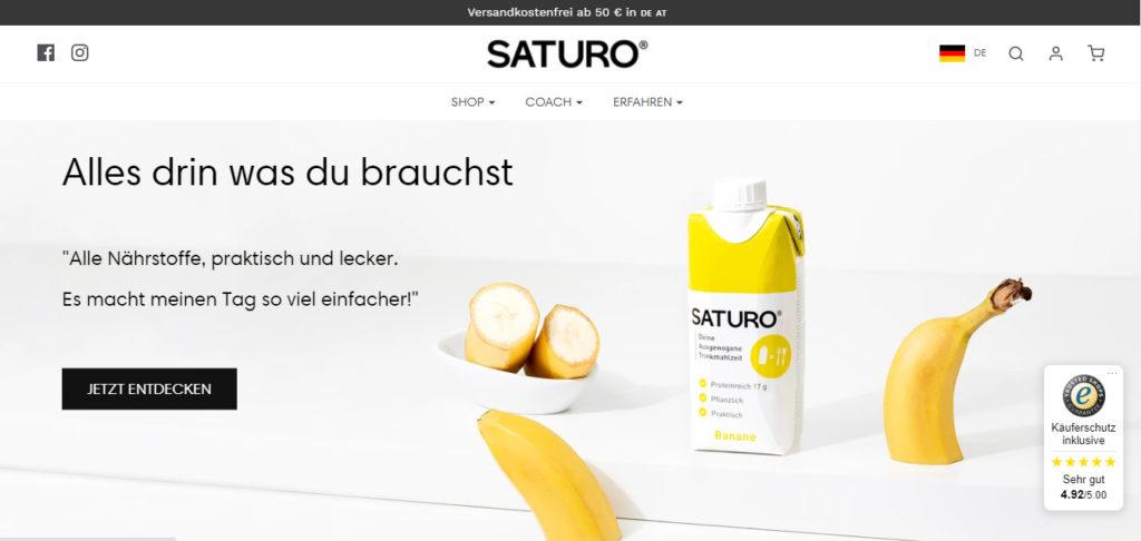 SATURO – die gesunde, praktische und schnelle Mahlzeit